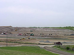 View of the Burlington County Resource Recovery Complex from a distance.